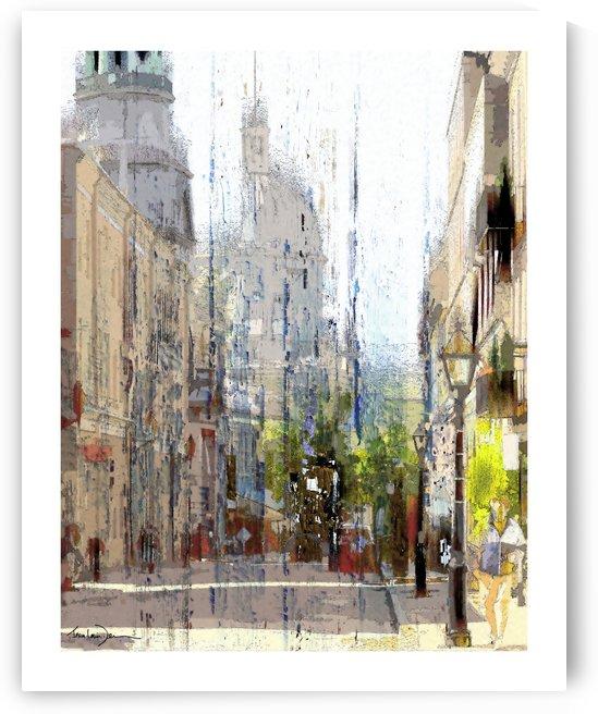 Rue st-Paul Montreal by Jean-Louis Desrosiers