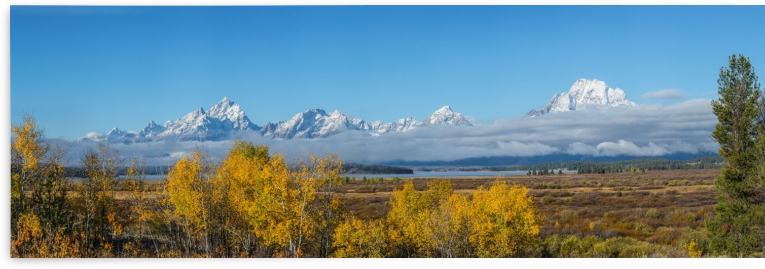Tetons In the Fog by John Freeman