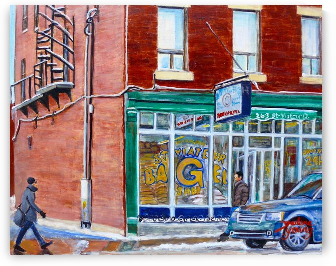 St Viateur Bagel by Darlene Young Canadian Artist