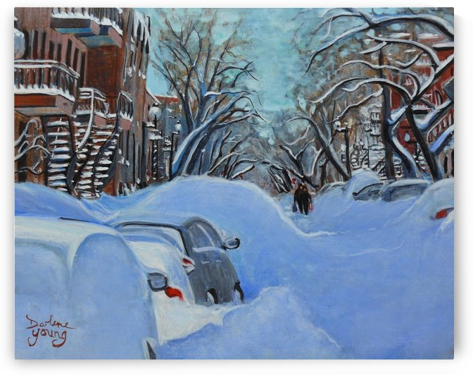 Montreal Winter Street by Darlene Young Canadian Artist