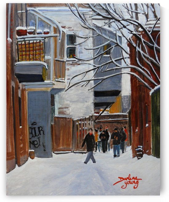 McGill Ghetto Lane by Darlene Young Canadian Artist