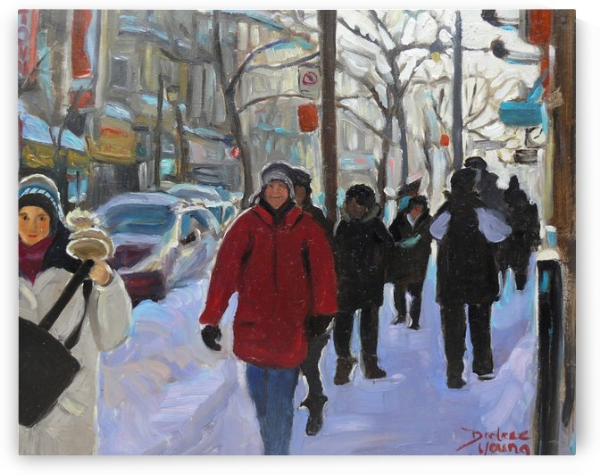 St Catherine Street Montreal by Darlene Young Canadian Artist