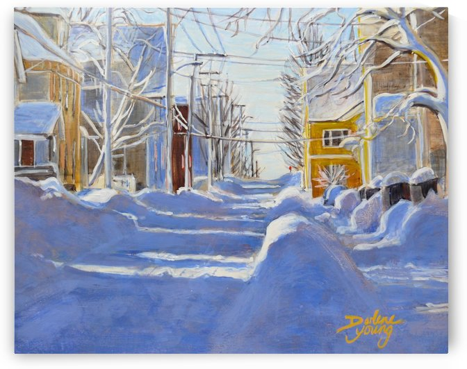 The Yellow House Charlottetown PEI by Darlene Young Canadian Artist
