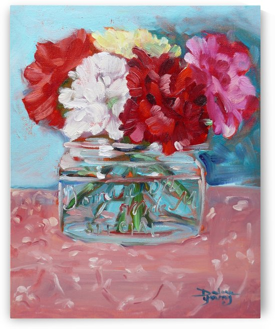 Carnations by Darlene Young Canadian Artist