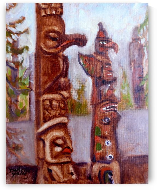 Thunderbird Totems by Darlene Young Canadian Artist