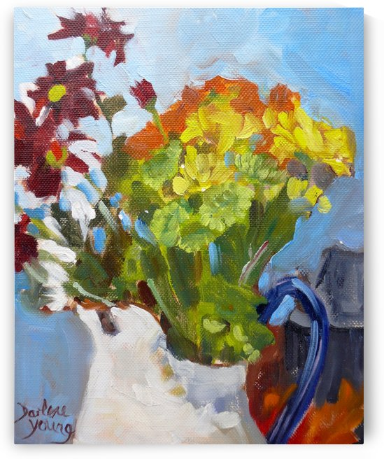 Flowers in a Jug by Darlene Young Canadian Artist