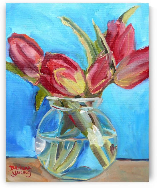 Red Tulips by Darlene Young Canadian Artist