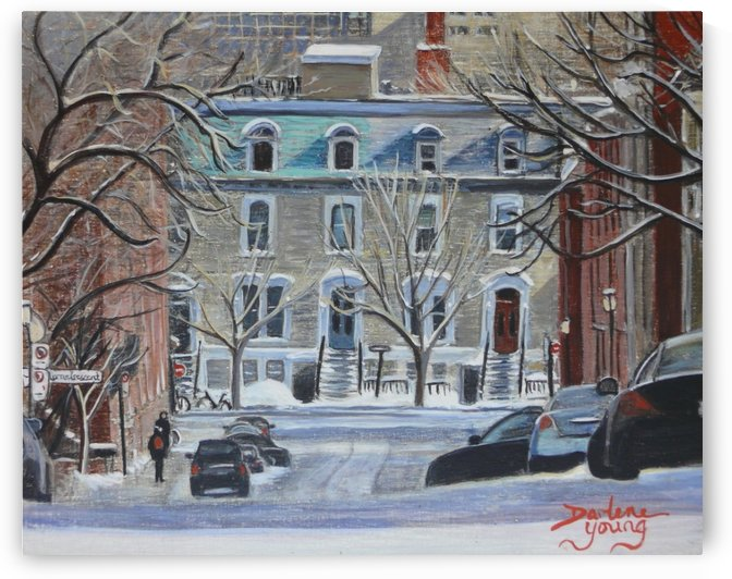 Lorne Crescent McGill Ghetto by Darlene Young Canadian Artist