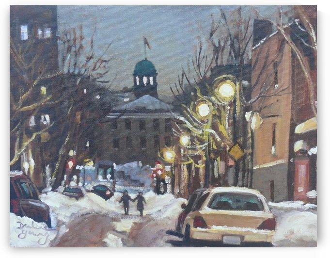 McGill Ghetto Night Scene by Darlene Young Canadian Artist