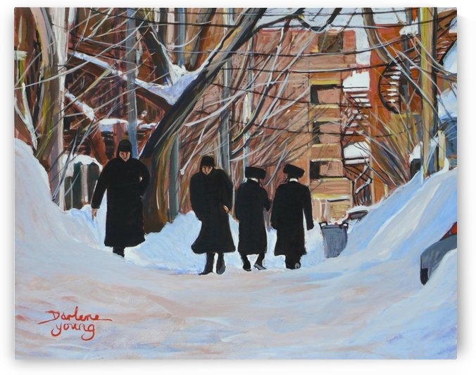 Shabbat Outremont Lane by Darlene Young Canadian Artist