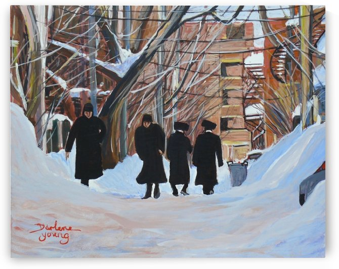Outremont Lane Shabbat by Darlene Young Canadian Artist