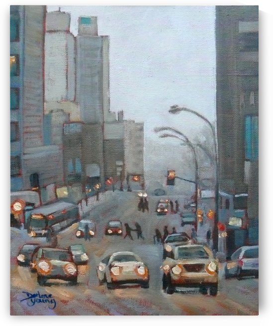 Guy Street Montreal by Darlene Young Canadian Artist