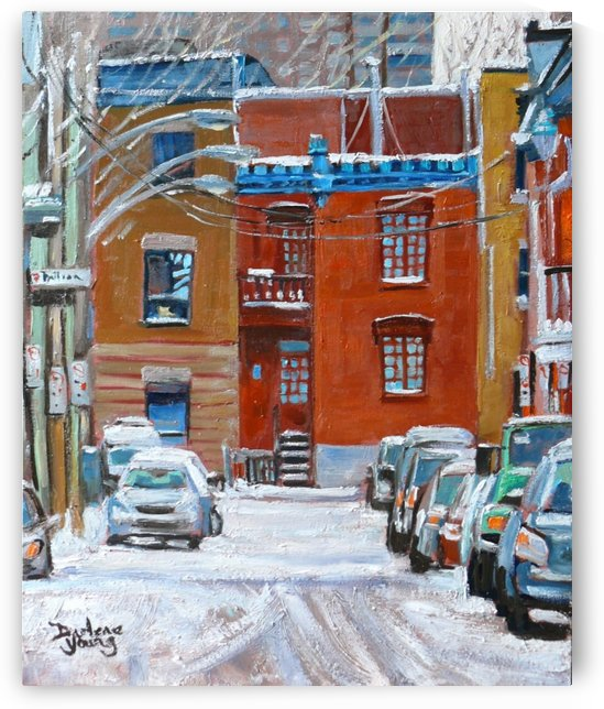 Le Plateau Red House by Darlene Young Canadian Artist