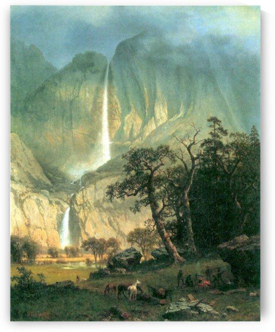 Cho-Looke,  Yosemite Watterfall by Bierstadt by Bierstadt