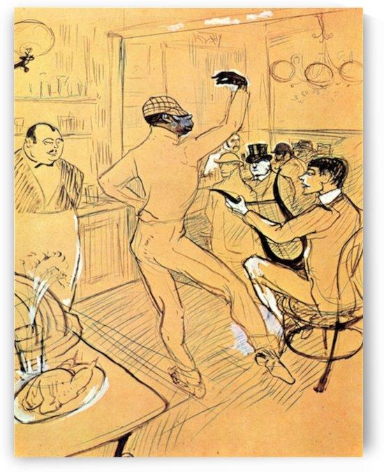 Chocolat dance by Toulouse-Lautrec by Toulouse-Lautrec