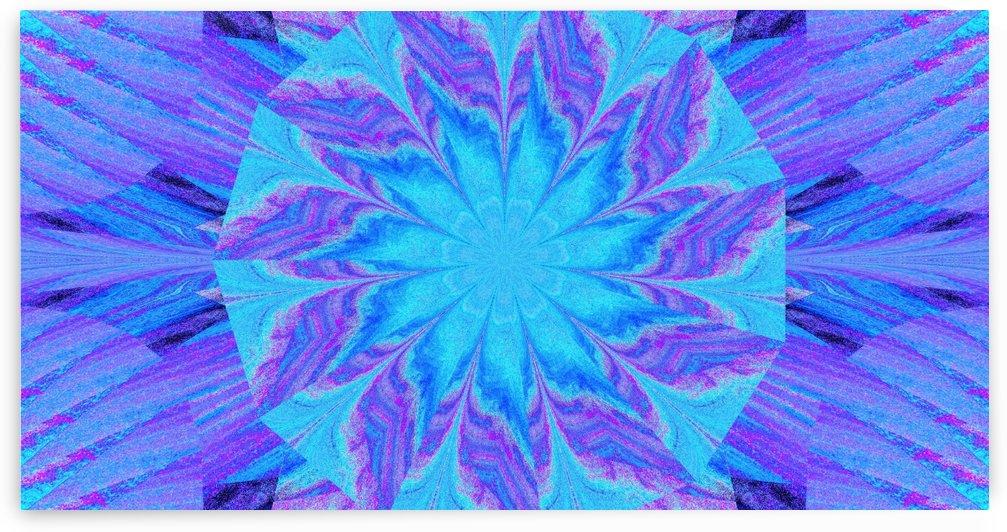 Blue Sky Wildflower in Purple by Sherrie Larch