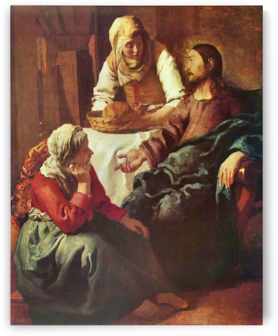 Christ with Mary and Martha by Vermeer by Vermeer