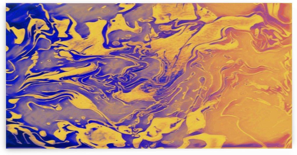 Break of Dawn - gold orange purple yellow blue swirl gradient abstract wall art by Jaycrave Designs