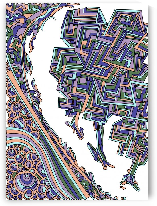 Wandering Abstract Line Art 12: Purple by Dream Ripple