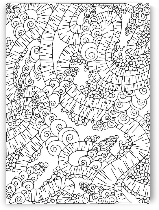 Wandering Abstract Line Art 13: Black & White by Dream Ripple