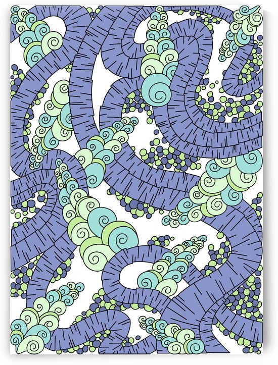 Wandering Abstract Line Art 13: Periwinkle by Dream Ripple