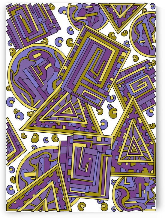 Wandering Abstract Line Art 15: Purple by Dream Ripple