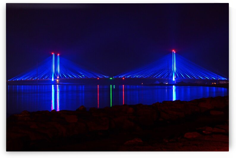 Indian River Bridge After Dark by Bill Swartwout Photography