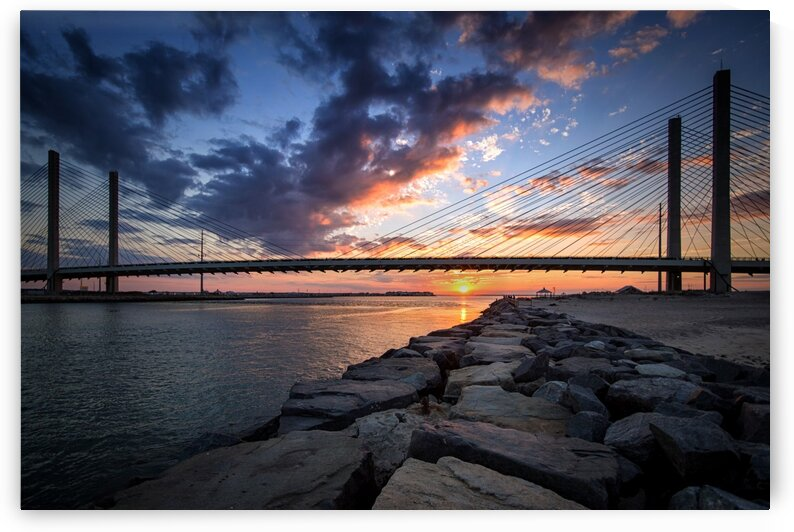 Indian River Inlet And Bay Sunset by Bill Swartwout Photography