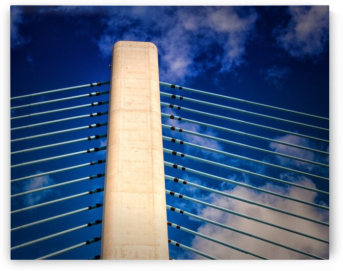 Indian River Bridge Northwest Stanchion by Bill Swartwout Photography