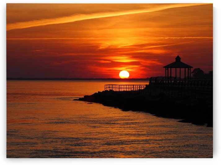 Sunset Over Indian River Inlet And Bay by Bill Swartwout Photography