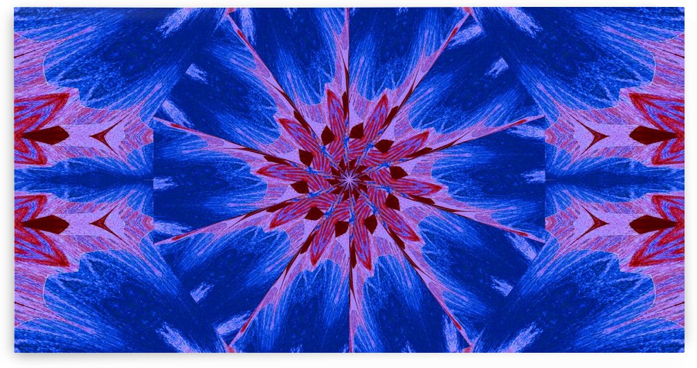 Red Wildflower In The Blue 2 by Sherrie Larch