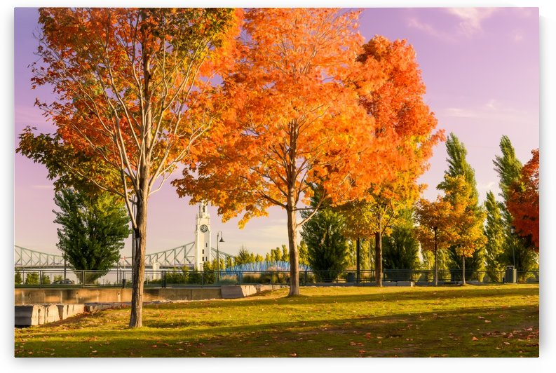 Autumn In The Old Port Of Montreal by Telly Goumas