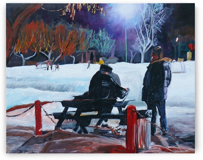 After school skate by Darlene Young Canadian Artist