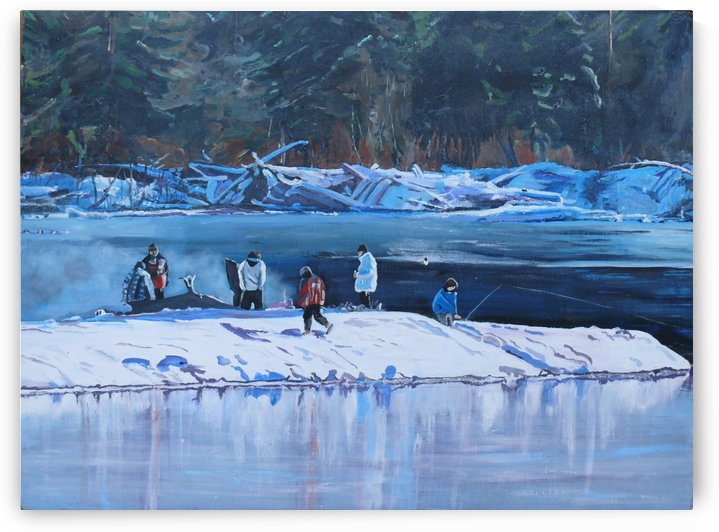 Fire Ice and Friendship by Darlene Young Canadian Artist