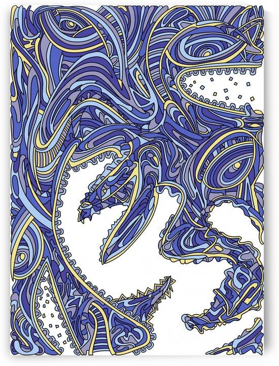 Wandering Abstract Line Art 17: Blue by Dream Ripple