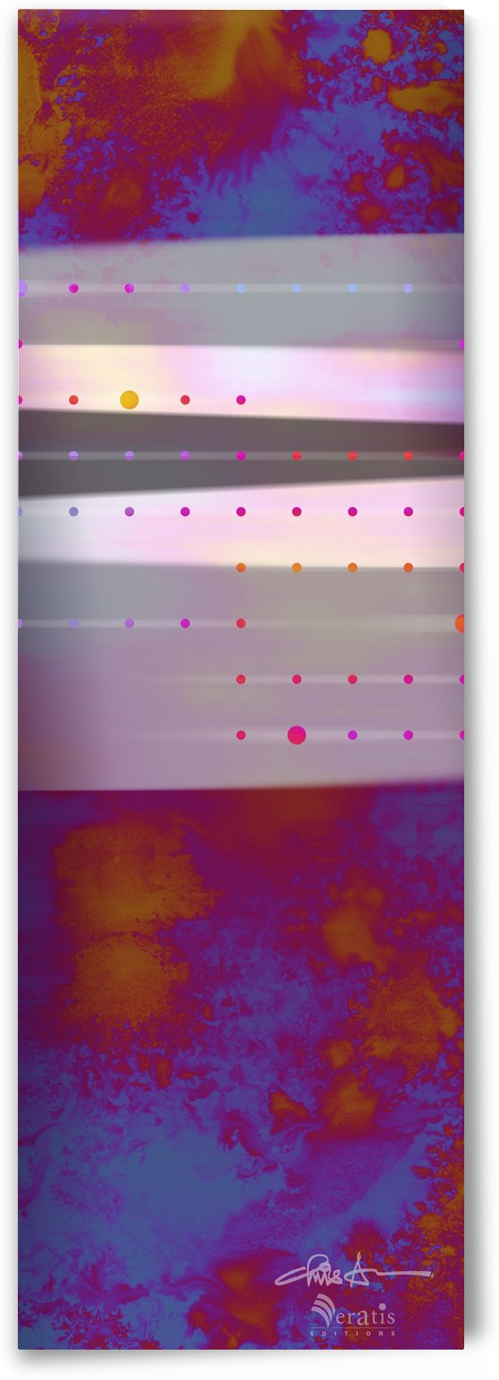 Flux & Stasis in Vermilion & Cobalt 1x3 by Veratis Editions