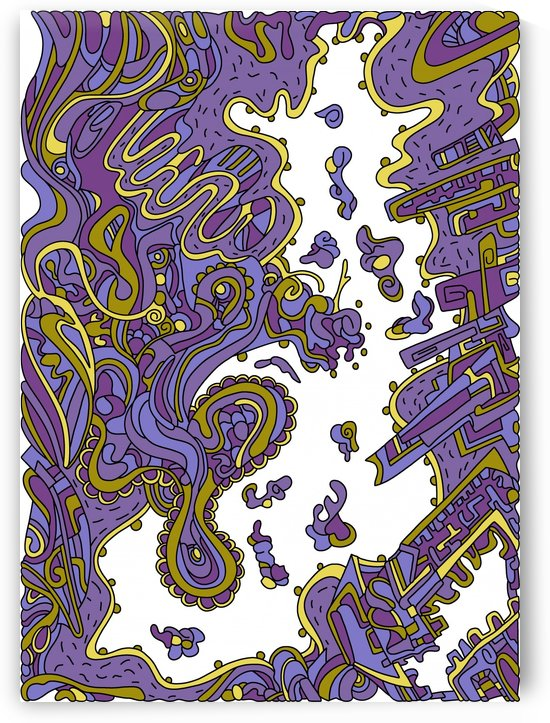Wandering Abstract Line Art 20: Gold by Dream Ripple