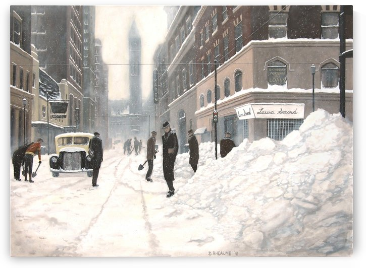 Blizzard on Bay 1944 by Dave Rheaume