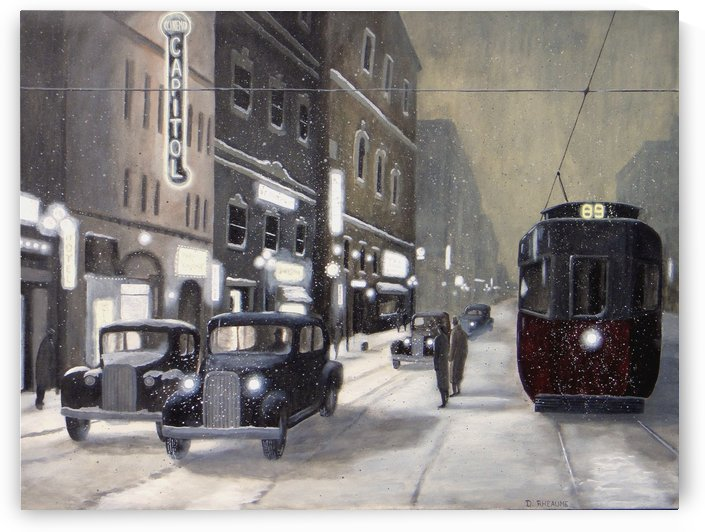 An Evening on Portage Avenue by Dave Rheaume