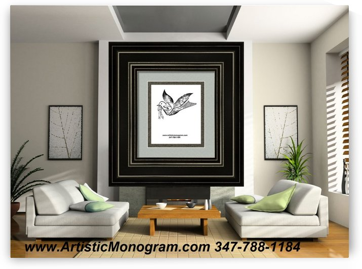 art   monogram   dove by pinchos tewel