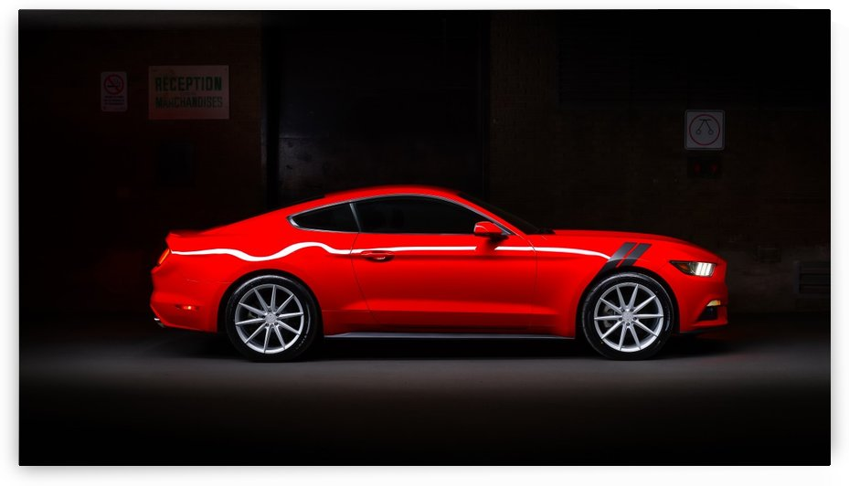 Lightpainting Mustang2 by Telly Goumas