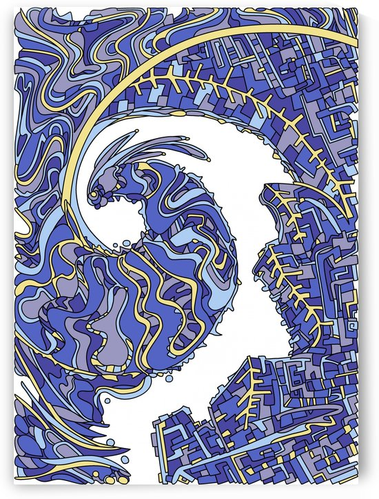 Wandering Abstract Line Art 30: Blue by Dream Ripple