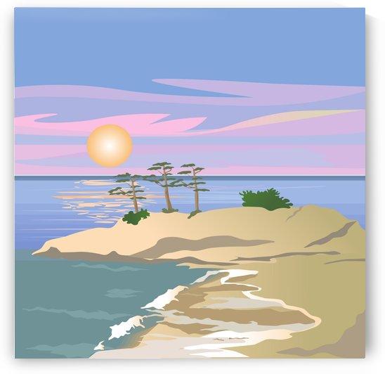 vacation island sunset sunrise by Shamudy