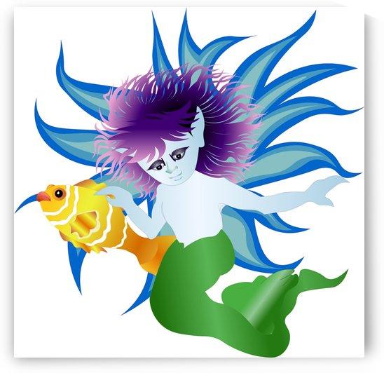 mermaid fantasy undersea merman by Shamudy