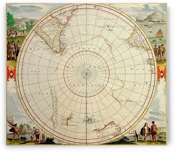 Terra Australis map by Culturio