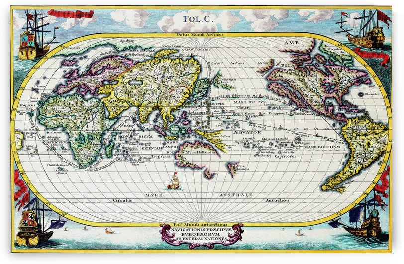 Ancient World Map 3 by Culturio