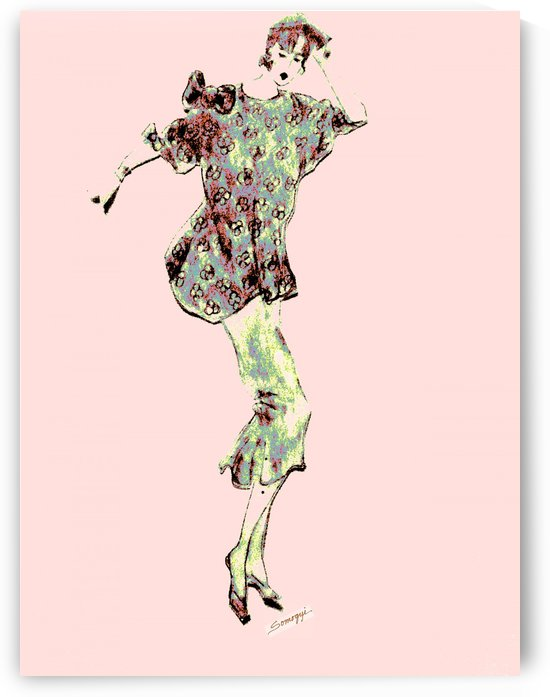 1980's Fashion on Pink by Jayne Somogy