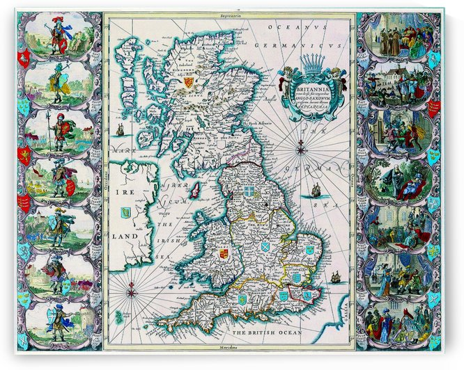 Ancient Britannia Map by Culturio