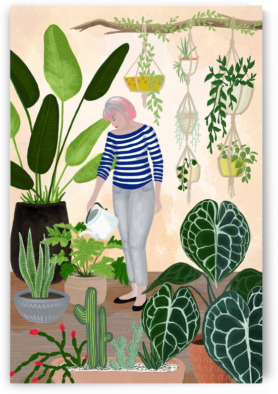 my home jungle illustration by blursbyai