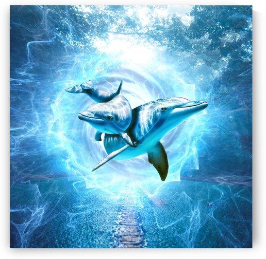 dolphin blue fantasy by Shamudy